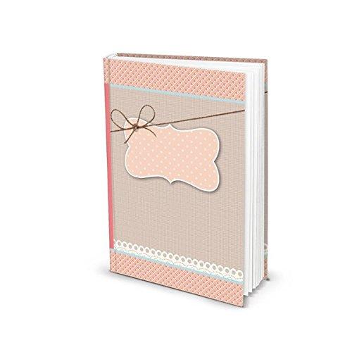 Blanko Notizbuch in rosa (Hardcover A5, Blankoseiten): Notizbuch für Gefühle, Ideen und Erlebnisse - ideal als Bullet Journal