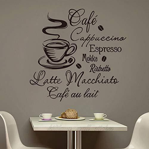 Pegatina de pared de vinilo para cafetería, cafetería, decoración para el hogar, decoración del hogar, pintura de pared