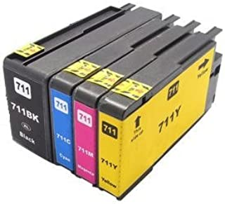 Printing Pleasure 4 Compatibles HP 711XL Cartuchos de Tinta ...