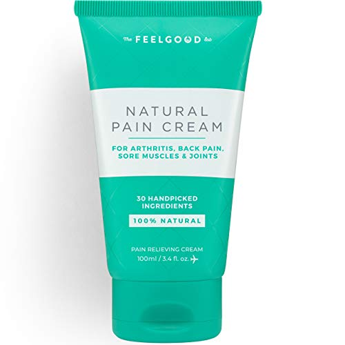 Natural Pain Cream by The Feel Good Lab – Arthritis Relief Cream, Back Pain Relief, 100% Natural Formula with Arnica, Turmeric, MSM, and More (3.4oz, 1 Count)