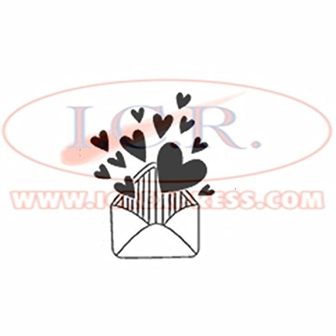 Artemio Stamp Love Heart Envelope, Wood, Black, 16.5?x 2.5?x 26.8?cm snnyvayhsvq744