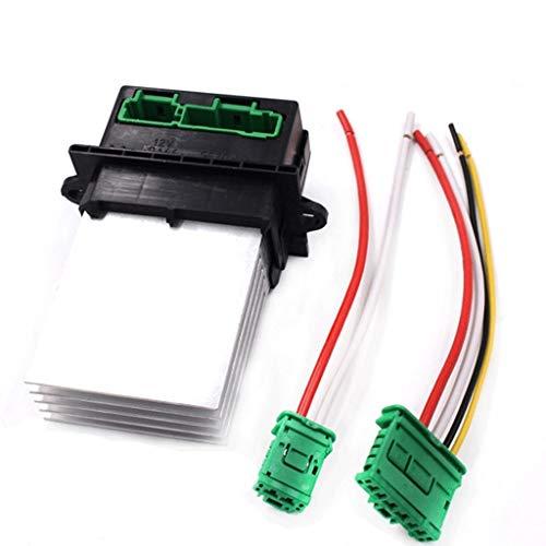 Heizung Gebläseregler Widerstand 6441.L2 YPG Klimaanlage Gebläsewiderstand + Connector/Draht for Citroen Renault Megane Scenic Clio 6441L2 7701048390 Ersatz (Color : Condenser Blower)