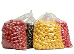 Full BAG of Paintballs (500 Rounds) DXS Basic Training Brand Eco Fill of Paintball: Orange or Yellow Fill Shell Color of Paintball: Color will vary
