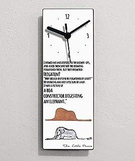 Citations du Petit Prince - I showed my master piece to the grown - Ups .- Horloge murale