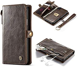Retro iPhone Xs Max leather case business card holder phone shell flip cover