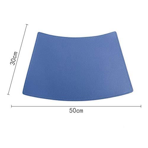 Xinxin24-Zzcd tafel rond van leer placemats vest tafel mat waterdicht en oliebestendig