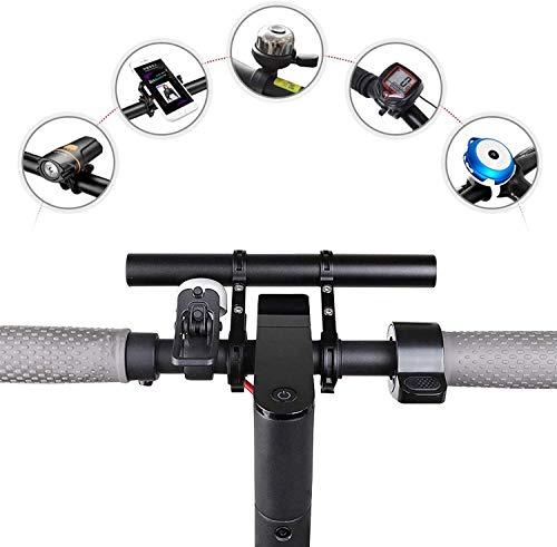 SOULBEST Fahrrad Lenker Extender - Doppel Fahrradlenker Verlängerung Halterungen Lenkkopferweiterungen Fahrrad Zubehö für Mountainbike Tachometer,Handy,Tacho,LED,GPS,Taschenlampe (Schwarz-20CM)