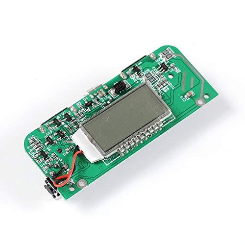 Módulo de alimentación Banco de la energía del Cargador de módulo Dual USB Boost 2.1A 1A Junta PCB móvil 5V Paso Junta Up Display LED for 18650 Batería del teléfono DIY Módulo regulador de Voltaje DC