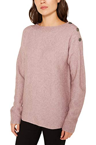 ESPRIT Damen 119EE1I032 Pullover, Violett (Dark Mauve 540), Medium (Herstellergröße: M)