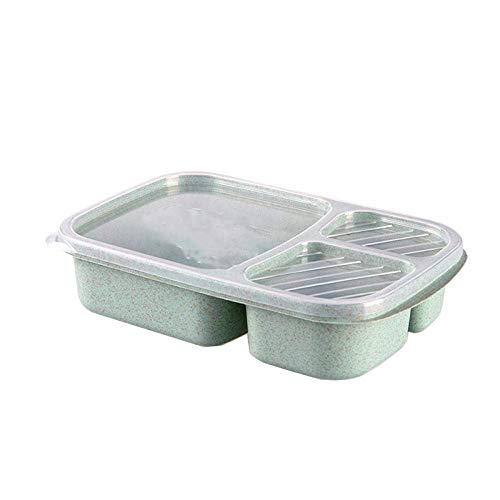 SCRFF Lonchera Aislante - Contenedor Bento Box Aislado y a Prueba de Fugas for niños, Zonas de Temperatura for Caliente (Color : C)