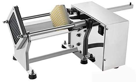 YOOYIST Electric French Fry Cutter Automatic Commercial French Fries Potato Cutter Fries Chips Maker with 3 Replaceable Blades