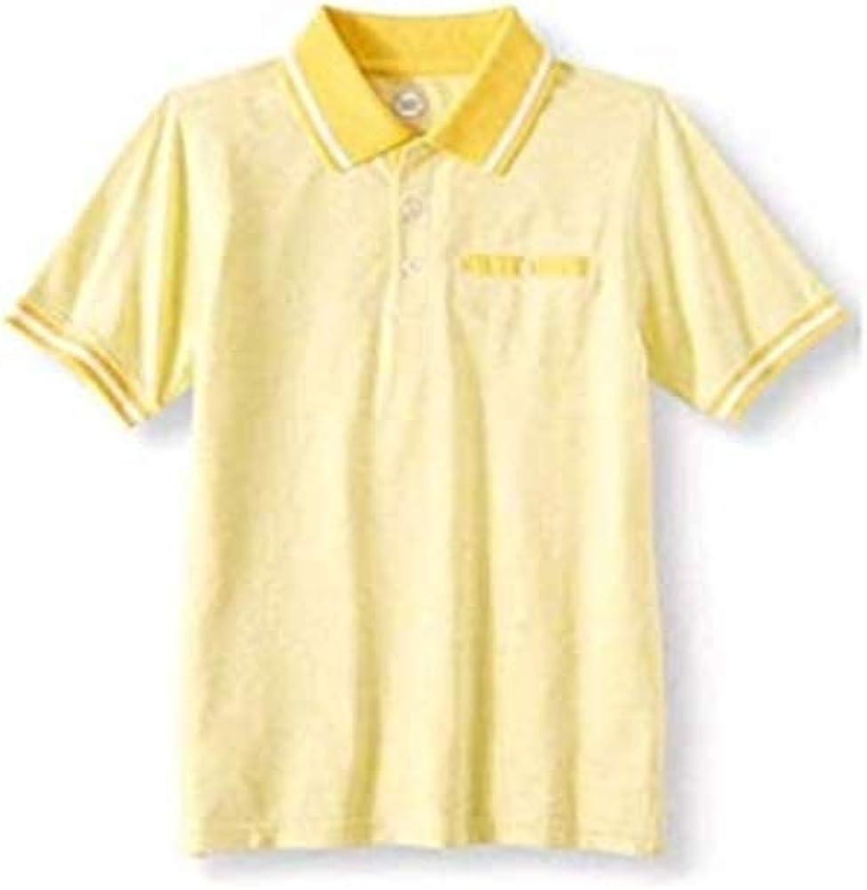 Wonder Nation Boy's Short Sleeve Stretch Polo Shirt (Small 6/7, Yellow)