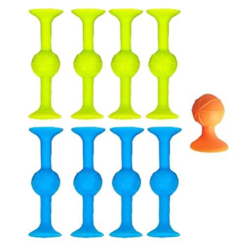 DKaony Pop Sucker Toys, Silikon Target Marker + Darts Funny Toy Set, großartige Saugnäpfe für mehrere Oberflächen wie Glas, Metall und Kunststoff, 2021 Family Interactive Release Stress