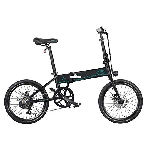 FIIDO D4S Biciclette Elettriche Pieghevoli per Adulti, Mountain Bike Elettrica 250W 36V, Bicicletta Elettrica Pieghevole da 20 Pollici, Guida a Lunga Distanza 80km, Ricevuta Entro 5-7 Giorni - Nero