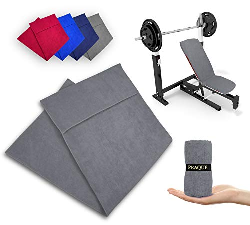 PEAQUE Fitness-Handtuch aus Mikrofaser, Grau, 100x40