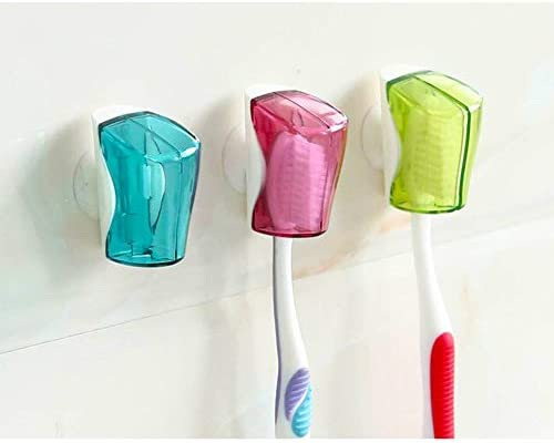 Hokic 6 Pack Travel Toothbrush Holder Case Portable Plastic Toothbrush Head Cover with Suction product image