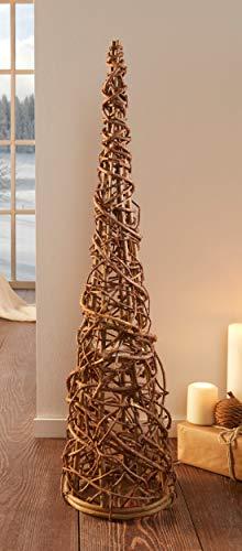 Reben-Kegel Rustique, 80 cm hoch, Deko-Geflecht-Christbaum für Garten, Haus, Terrasse