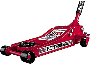 Pittsburgh Automotive 3 Ton Heavy Duty Ultra Low Profile Steel Floor Jack with Rapid Pump Quick Lift