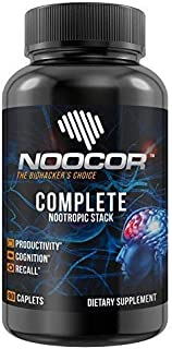 Noocor Complete: 14 Nootropics in One Stack   Extra Strength   Focus, Memory & Mental Clarity   Noopept, Alpha-GPC, Huperzine A, 5-HTP, DMAE, Bacopa Monnieri, Ashwagandha & More! 90ct Bottle