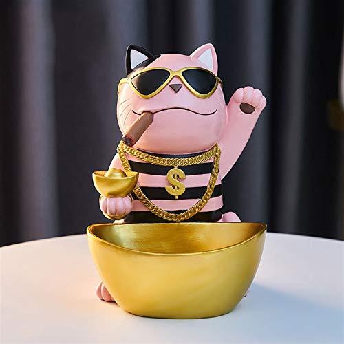 yuanyuanliu Caja De Almacenamiento De Escritorio Ornamentos para El Hogar, Decoraciones, Tienda Tea Shop (Color : Pink)