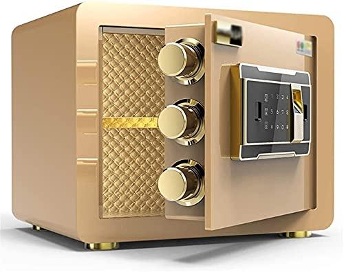 ZXNRTU Säkerhetsboxar för hemmet, Säkerhetsskåp för hemskåp Hem Säker Digital Säker elektronisk Hem Säker med Medium Office Alarm Fingeravtryck Säkert Anti-stöld Förvaringslåda