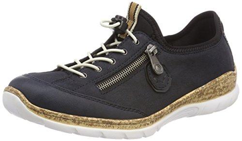 Rieker Damen N4263 Sneaker, Blau (Pazifik/Marine/Schwarz), 42 EU