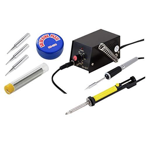 Mini-soldeerstation ZD-927 tin + 3 punten + slapasta + elektrische pomp vijverzuiger met verwarmingstoestel 8 W soldeerbout tip tot 0,3 mm klein precisie lasapparaat temperatuur 100-450 °C