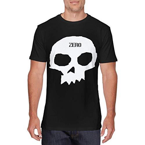 SOTTK Sportbekleidung Herren Kurzarmshirt, Mens Funny Zero Skateboards Single Skull Tshirt Black