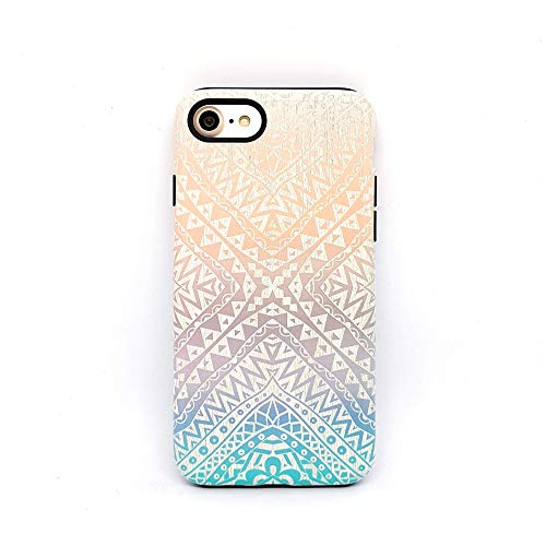 Azteco cover case custodia per iPhone 5, 5s, SE 2016, 6, 6s, 7, 7 plus, 8, 8 plus, X, XS, 11, per Galaxy S6, S7, S8