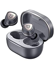 SoundPEATS Sonic Wireless Headphones In-Ear Bluetooth Headphones, Bluetooth 5.2 Headphones APTX Adapter Wireless Headphones with Immersive Bass, TrueWireless Mirroring 35 Hours USB-C Mono/Stereo Game Mode