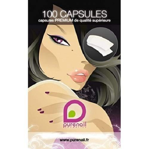 PURENAIL Pack de 100 Premium Tips Capsules Faux Ongles de Qualité Supérieure Naturel - Lot de 2