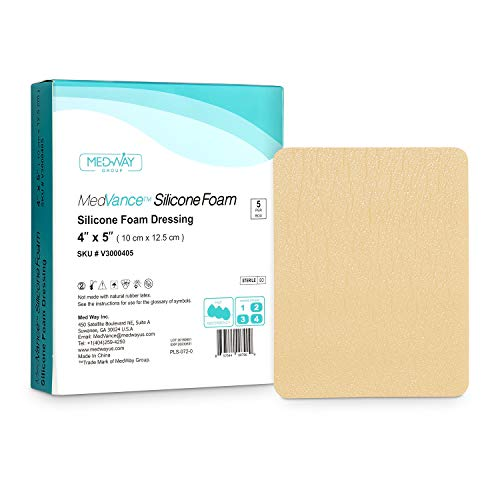 MedVance TM Silicone - Silicone Adhesive Foam Absorbent Dressing, 4