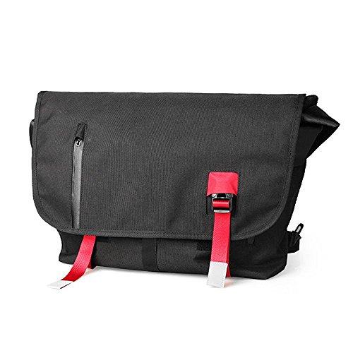 ZMLSXU Messenger Bag équitation léger Toile Sac Mode Simple Hommes et Femmes Sac à bandoulière Noir