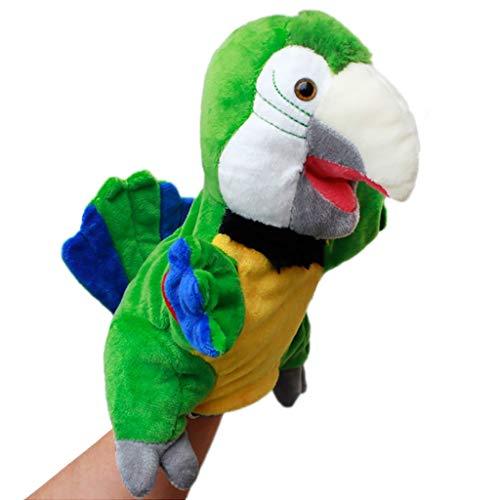 Marionetas animales Green Parrot marioneta de mano - 30 cm (11,8' pulgadas) de la felpa suave marionetas de mano animales juguetes de la muñeca for los niños - for contar historias, la enseñanza, pree