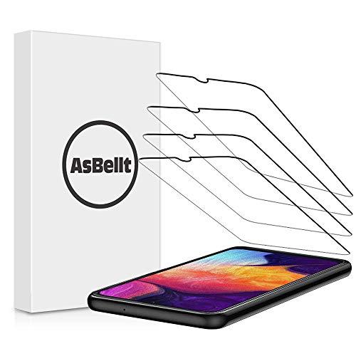 AsBelltSchutzfolie fürSamsung Galaxy A50, [4 Stück][99,99% HD-Klarheit] 9H HärteGlas Folie [Einfach Blasenfreie Anzubringen], Displayschutzfolie für Samsung Galaxy A50