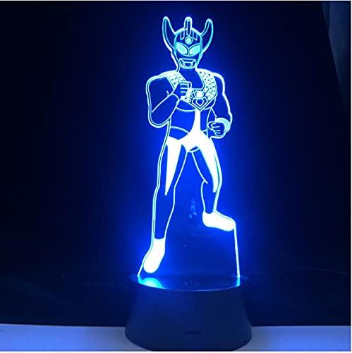 Luz De Noche 3D Altman Anime 7 Colores Lámpara 3D Luz De Noche Lámpara De Ilusión Óptica Acrílica Lámpara De Mesa Led Decoración Del Dormitorio Del Hogar