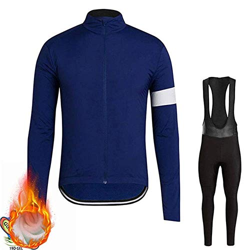 ZEH Winter Thermal Fleece Langarm Radtrikot Set, Windundurchlässig Suits Außen MTB Bike Tights (Farbe: A, Größe: XS) FACAI (Color : F, Size : XXXL)