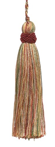 DÉCOPRO Set of 10 Decorative Wine, Gold, Green 10cm Tassel, Imperial II Collection Style# Its Color: Cherry Grove - 4770