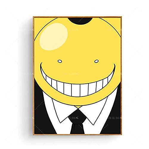 Tiiiytupóster De Anime Koro Sensei Assassination Classroom Canvas Painting Art Print Poster Decoración para El Hogar Arte De La Pared -50X70Cm Sin Marco
