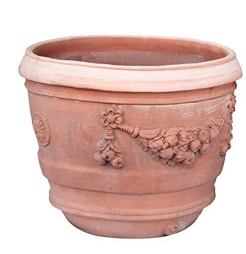 Cencini Fioriera Conca Festonata in Terracotta Toscana di Siena (50cm)