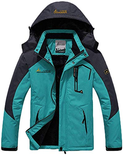 Memoryee Chaqueta Impermeable para Hombres Chaqueta Polar de Invierno Cálida Chaqueta de esquí A Prueba de Viento Bolsillos múltiples