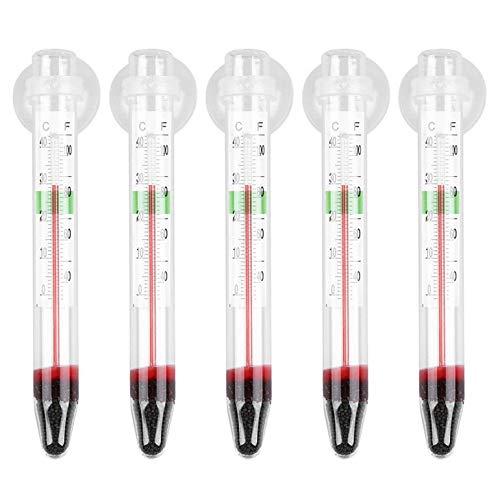 5 stuks ZY-01 glazen meter aquarium glas watertemperatuur thermometer