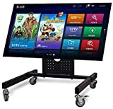 sunter98 Rolling TV Mount Stand Trolley 32-65inch Plasma Screen LED LCD Monitor Low Height Stand Cart D750