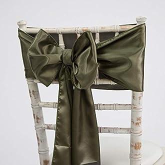 Pale Blue Sash Decor Trader Lin Rubans en Toile de Jute et chemins de Table 9/Couleurs Assorti Chaises de Mariage /év/énements