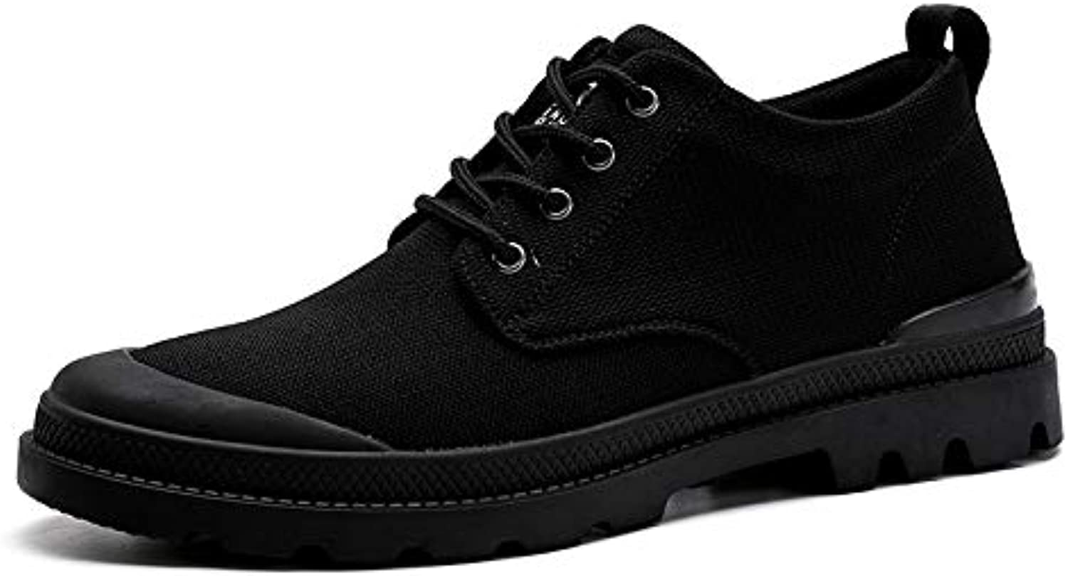 ZyuQ Ankle boots Autumn Men'S Casual shoes Fashion Tooling Martin Short Boots Low To Help Men'S shoes