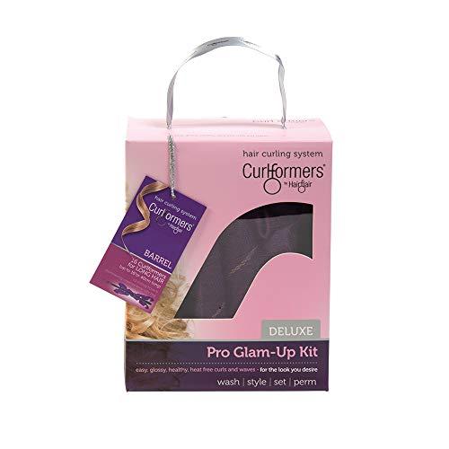 Curlformers Deluxe Glam-Up - Lockenstyling-Set für große Locken - für mittellanges bis langes Haar bis zu einer Länge von 40 cm - ohne Hitze - mit 16 Lockenwicklern und 1 Stylinghaken