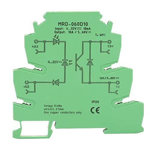 FYYONG Módulo de relé de estado sólido, MRD-060D10 ultra-delgado Junta PLC Relé de potencia del amplificador de CC Módulo de relé de estado sólido