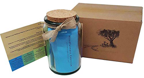 MEGA Achtsamkeit & Wellness-Geschenk: Rustikales Glas voller täglicher Wellness-Aufgaben und Herausforderungen.