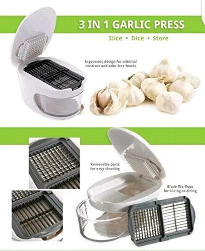 The Sharper Image 3 in 1 Garlic Press