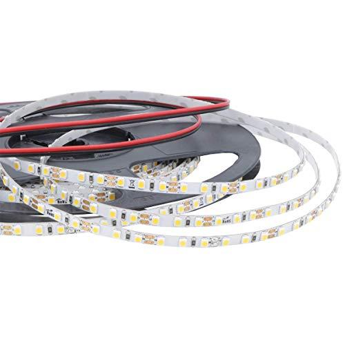 iluminize LED-Streifen Mikro: sehr hochwertiger Mikro LED-Streifen, nur 5 mm breit, 120 LEDs/m, hoch selektiert, 12V, 9,6W/m, 5 m auf Rolle (4000K Ra 80 IP65NANO)